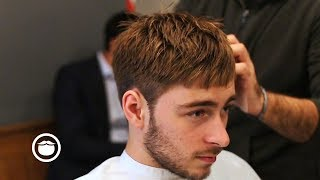 Textured Caesar Style Cut (French Crop) With a Slight Fade
