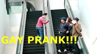GAY ESCALATOR/GAY PRANK INDONESIA !!!!