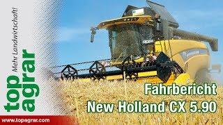 New Holland Mähdrescher CX 5.90: Neue Kabine für die dritte Generation