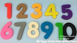 Learn to Count Numbers 1 to 10 and Colours with Play Doh Modelling Clay Fun and Creative for Kids