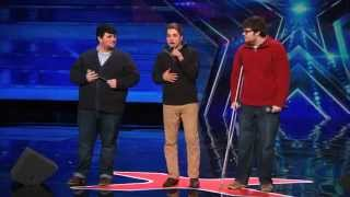 Triple Threat Beautifully Nerdy Boy Band Sing Classic by MKTO   Americas Got Talent 2015