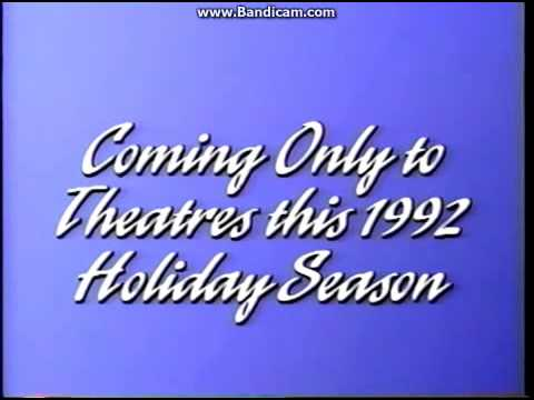 Coming Only to Theatres this 1992 Holiday Season