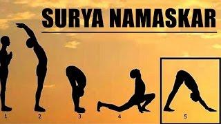 Learn  Step by Step Surya Namaskar