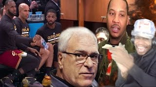 LMAO LEBRON & MELO ARE DISSING PHIL JACKSON! KNICKS vs CAVALIERS HIGHLIGHTS REACTION