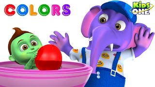 BABY HULK Gets COLOR BALLOONS Bursting on ANIMALS | Play and Learn COLORS for Children