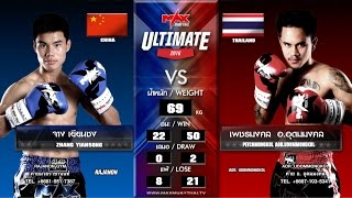 (CHINA VS THAILAND) Max Muay Thai WORLD FIGHT 2016 (6 MARCH 16) Match 7  ZHANG  VS PETCHMONGKOL