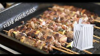 36 Hole Kebab Skewers Slicer _ Brochette Grill Kebab Maker _ Kebab Recipe