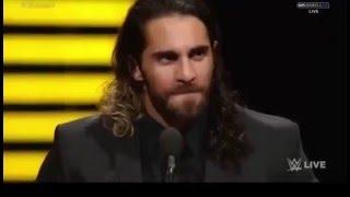 CM Punk chants on Seth Rollins return (Slammy Awards 2015-2016 )