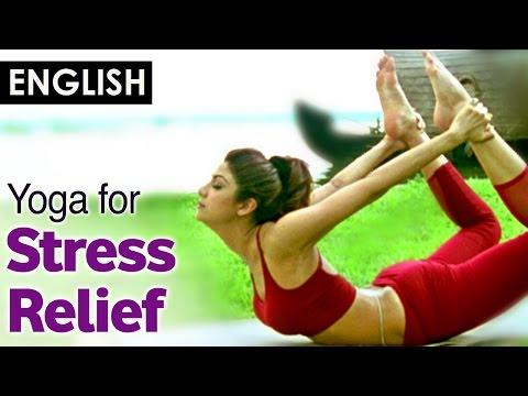 Yoga for release stress and Menstrual problem - Dhanurasana (English)- Shilpa Yoga