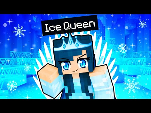 Playing Minecraft as the ICE QUEEN