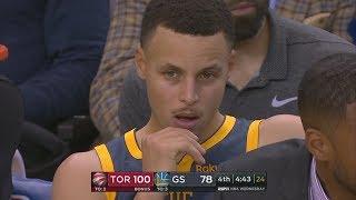 Raptors Blowout Warriors No Kawhi! Fans Leave Early! 2018-19 NBA Season