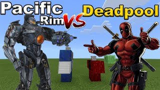 PACIFIC RIM vs DEADPOOL | Minecraft PE