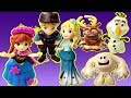 Gertit Plays with Disney Characters Playset Pretend play with Anna and Elsa and the Monster Snowman