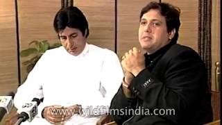 Amitabh Bachchan and Govinda : Bollywood film 'Bade Miyan Chote Miyan'