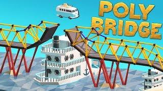Boats, Cars, and Bridges! - Poly Bridge Gameplay