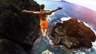 Cliff Jumping Hawaii 2.0 - 80 Foot Jump!
