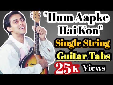 Xxx Mp4 Hum Apke Hai Kon Single String Guitar Tabs Step By Step By Acoustic Awadh Boy 3gp Sex