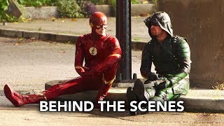 DCTV Crisis on Earth-X Crossover Behind the Scenes #2 - Flash, Arrow, Supergirl, DC's Legends (HD)