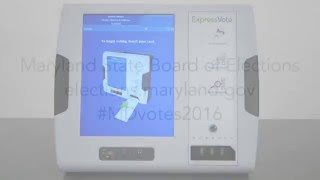 How Maryland Votes: Using the ballot marking device