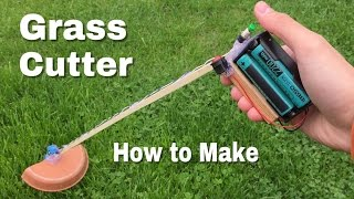 How to Make a Grass Cutter Machine - Powerful Mini Grass Cutter DIY - Easy to Build