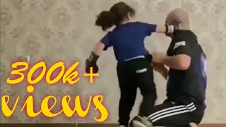 Little girl practice(boxing) with her coach 720P FULL HD KP OFFICIAL YOUTUBER