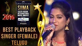Siima 2016 Best Playback Singer (Female) Telugu | Satya Yamini - Baahubali Movie