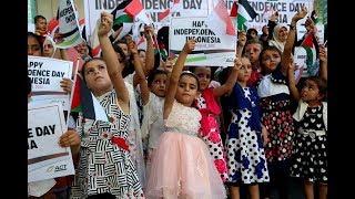 Rakyat Palestina pus ikut merayakan Kemerdekaan Indonesia.