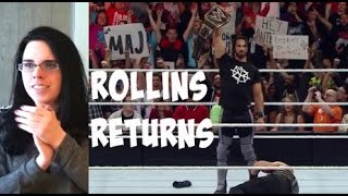 WWE Extreme Rules 2016 REACTION- SETH ROLLINS RETURNS!
