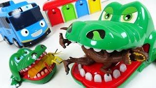 무시무시한 악어가족, 타요마을의 불청객 공룡과 곤충을 냠냠냠!!! - 두두팝토이