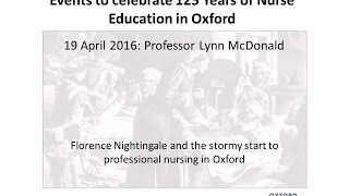 Florence Nightingale and the stormy start to professional nursing in Oxford