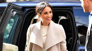 Meghan Markle Opts for Messy Hair Look at Radio Station Event