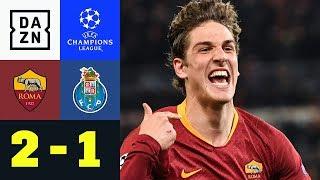 Nicolo Zaniolo lässt Roma jubeln: AS Rom - FC Porto 2:1 | UEFA Champions League | DAZN Highlights