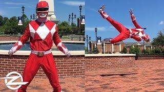 POWER RANGER TRICKING   Martial Arts Flips and Tricks