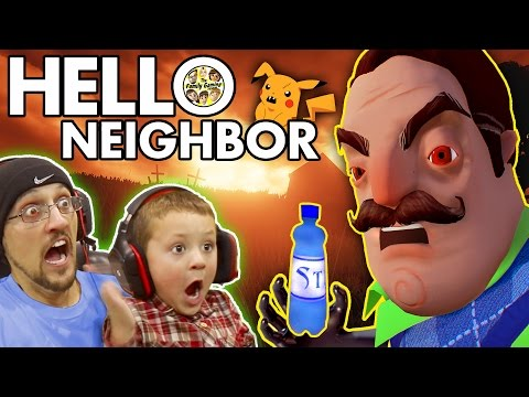 HELLO NEIGHBOR Scary BASEMENT Mystery Game His Secret Water Bottle Flip Addiction FGTEEV Fun