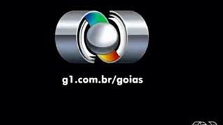 Selo de realização dando pau no encerramento do Globo Esporte GO