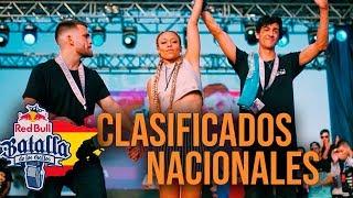 Los CLASIFICADOS a la NACIONAL de RED BULL ESPAÑA 2018 | Batallas De Gallos (Freestyle Rap)