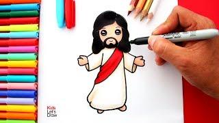 Aprende a dibujar a JESÚS de manera fácil | How to Draw a Cute Jesus