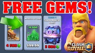 HOW TO GET FREE GEMS IN CLASH ROYALE! Method To Get Super Magical Chests!