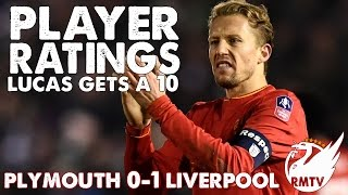 Lucas gets a 10! | Plymouth 0-1 Liverpool | Player Ratings