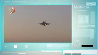 أول فيديو للضربة الجوية المصرية لمنفذي حادث المنيا بدرنة الليبية