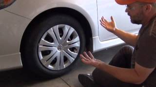 How to Remove a Plastic Wheel Cover (hubcap)