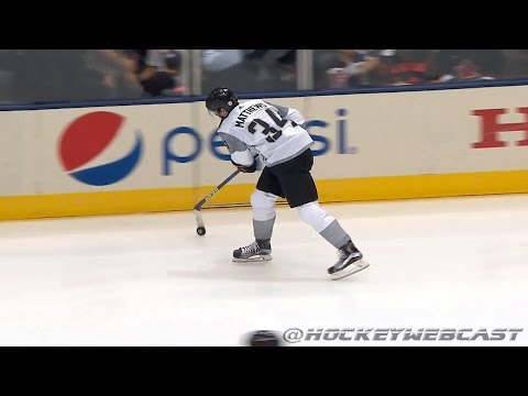 Auston Matthews' Slick Move in Warmup - World Cup of Hockey 2016 (HD)