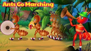 The Ants Go Marching One By One | Nursery Rhymes | Kids Song by TINY DREAMS KIDS