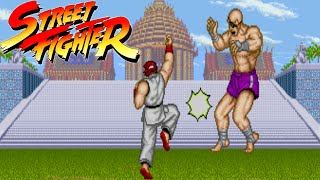 Street Fighter 1987 - Arcade Longplay with Ryu