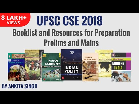UPSC Booklist and Resources for 2018 CSE Preparation Prelims and Mains