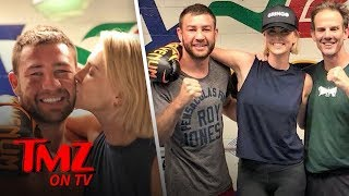 Charlize Theron Trades Punches & Kisses With Boxing Champ! | TMZ TV