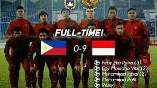 INDONESIA U18 VS FILIPINA U18 9-0 Gol dan Highlights Piala aff u-18 cuplika gol pertandingan
