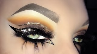Sexiest Arabic Glitter Cut Crease with Swarovski Eyeliner Makeup Tutorial ft. Dery Bruno