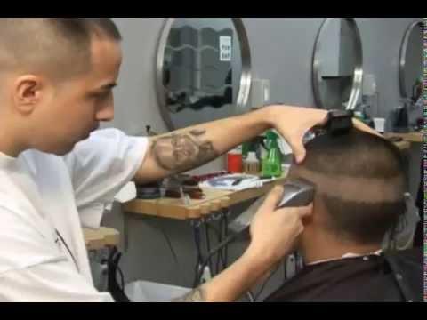 cortes de pelo de hombre video instructional en espanol fade blow out y diseno