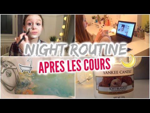 GET UNREADY | Night routine après les cours | Pauline